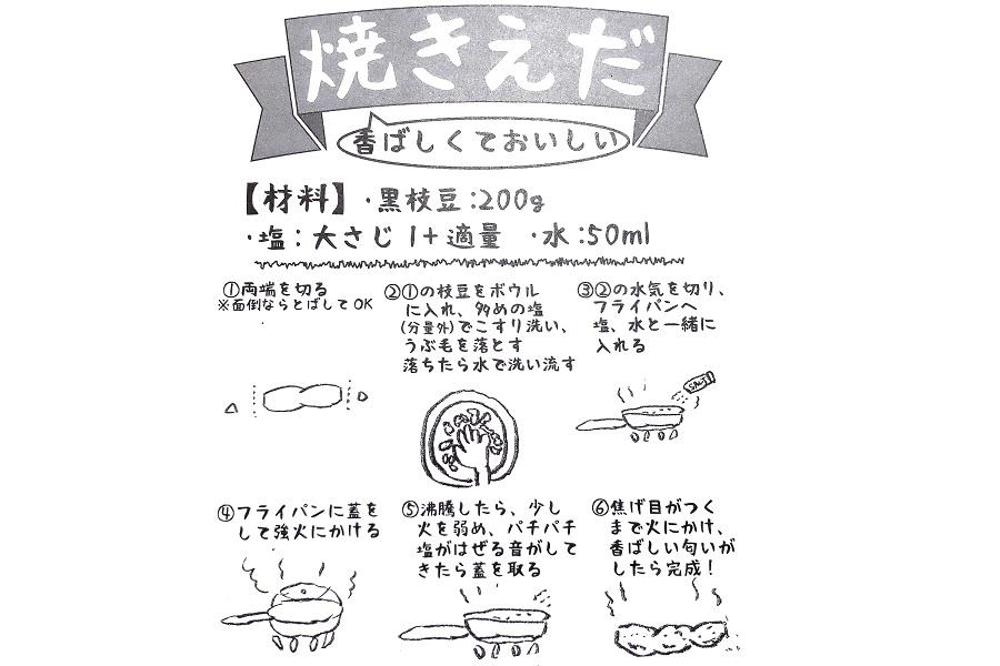 丹波黒枝豆を焼いて食べる「焼きえだ」のレシピ